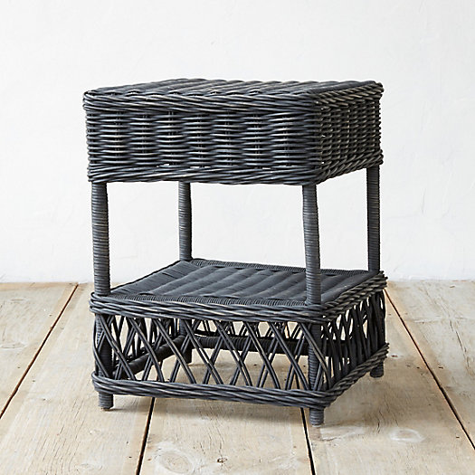 Ebony Rattan Side Table