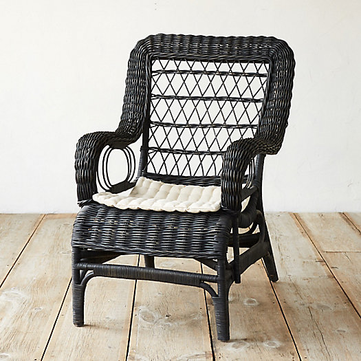 Ebony Rattan Lounge Chair