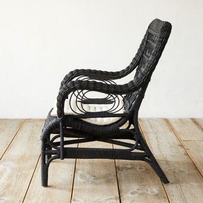 Ebony Rattan Lounge Chair