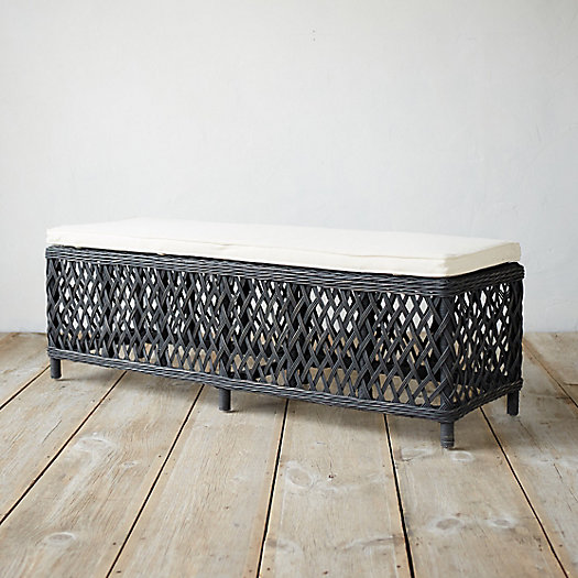 Ebony Rattan Bench