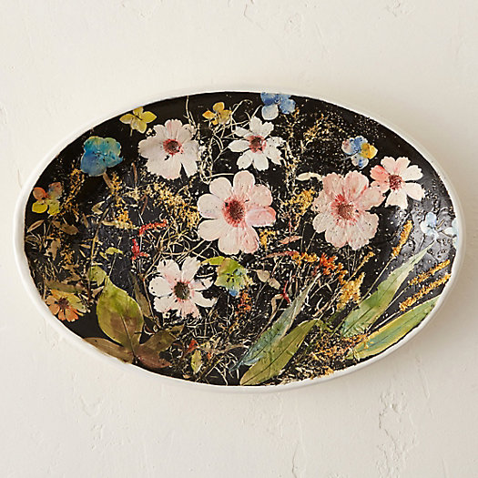 Wildflower Series Oval Platter