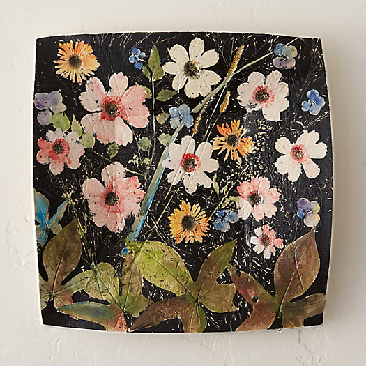 Wildflower Series Square Platter, Black