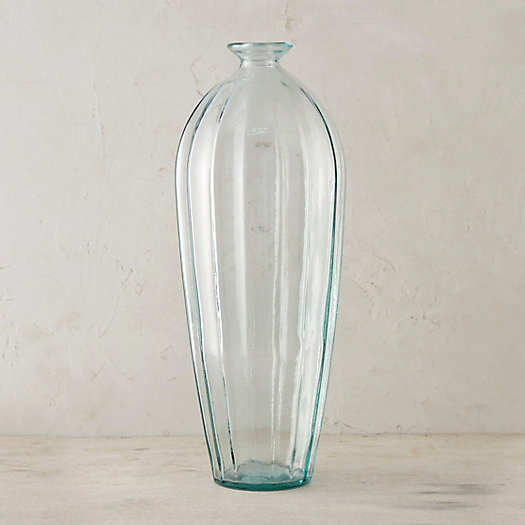 Recycled Glass Round Shoulder Vase