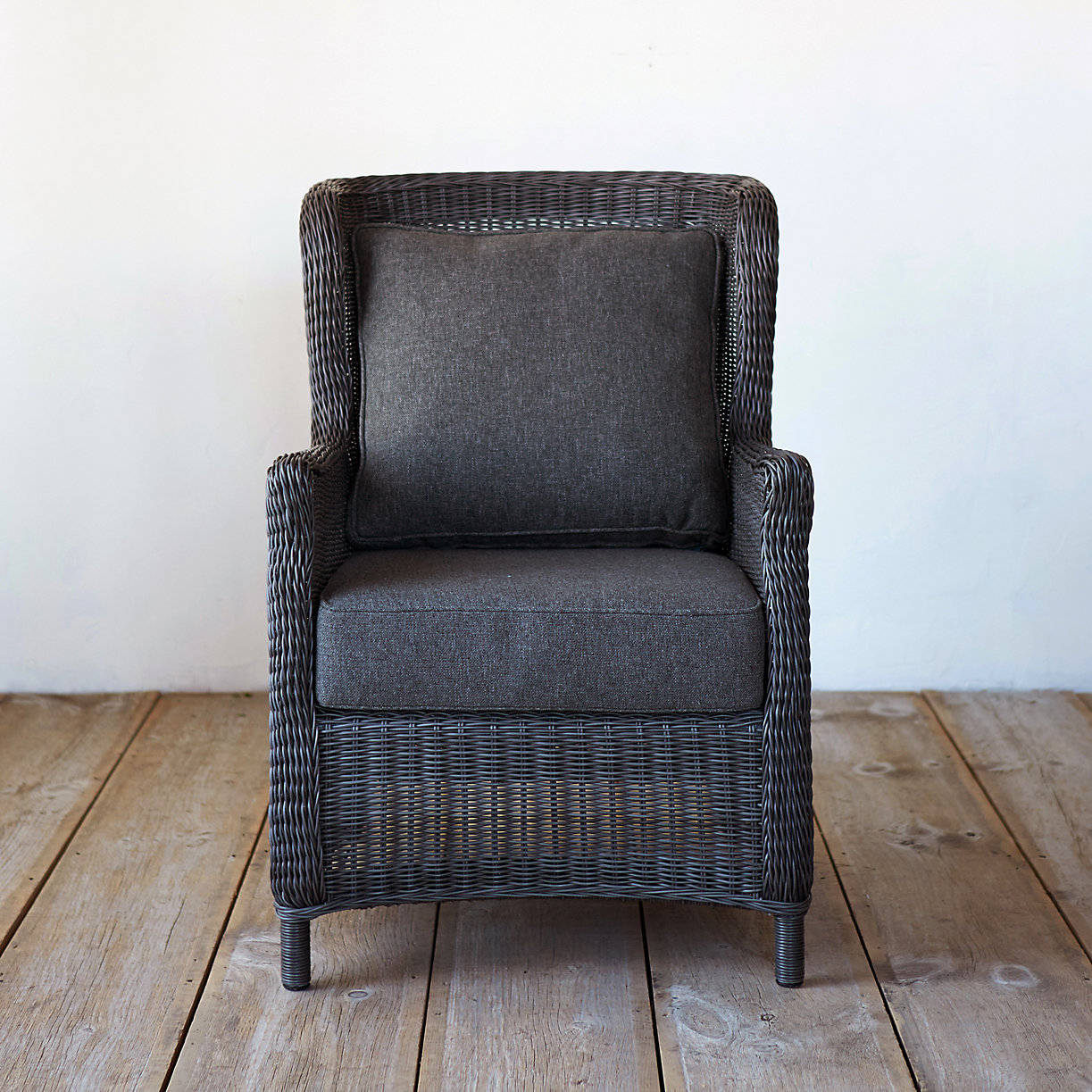 Metal outdoor club chairs - Product Offer Badge Modern Wingback All Weather Wicker Armchair