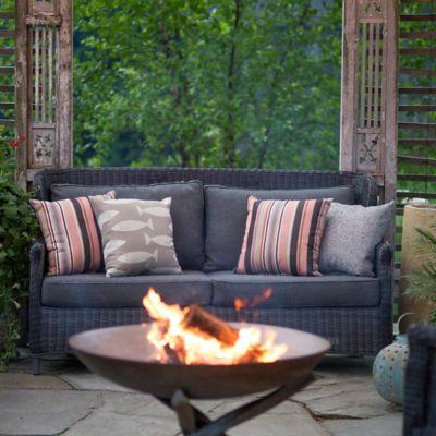 Modern Wingback All Weather Wicker Sofa