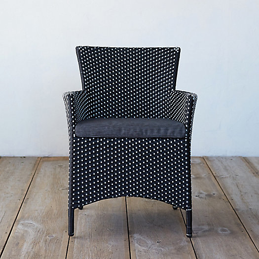 Classic All Weather Wicker Dining Chair, Two-Tone