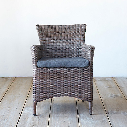 Classic All Weather Wicker Dining Chair, Solid