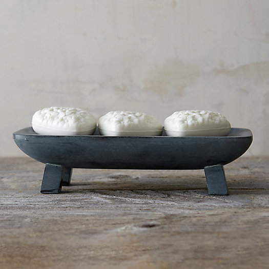 Footed Stone Soap Tray