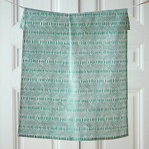 Cotton Block Print Tea Towel