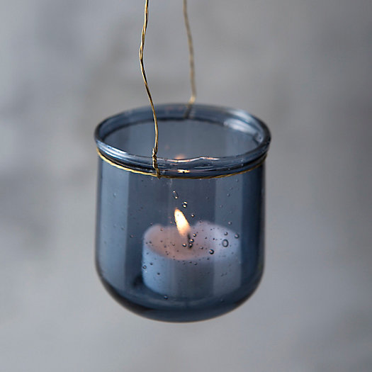 Bubble Glass Hanging Votive Holder