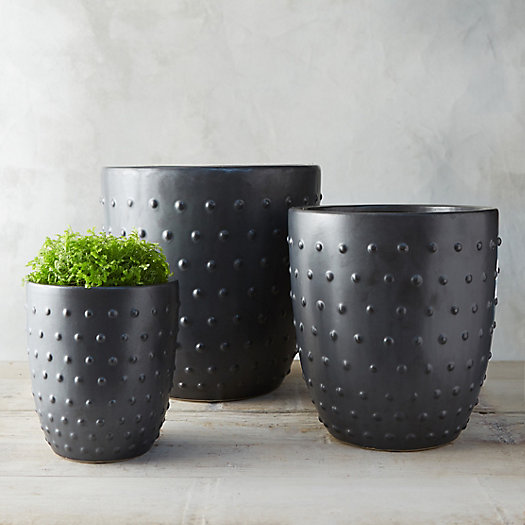 Hobnail Clay Pot