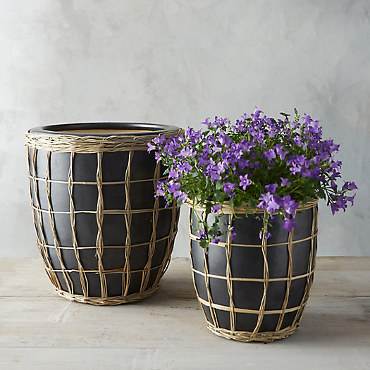 Windowpane Weave Planter