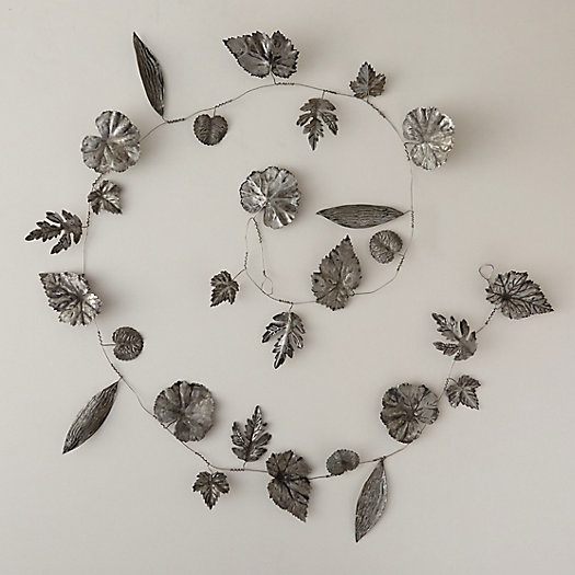 Pressed Zinc Leaf Garland
