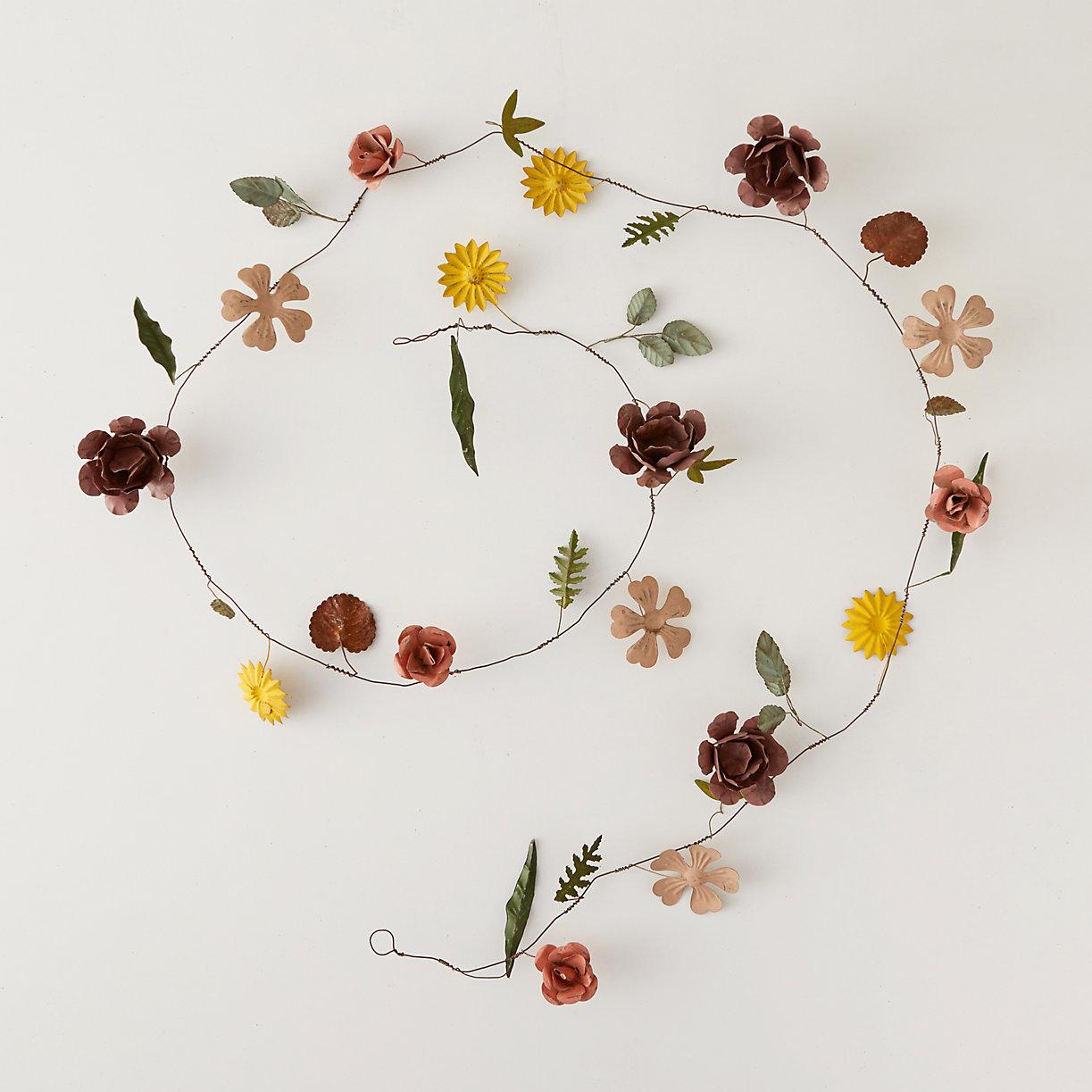 Flower Garland: Pressed Metal Flower Garland