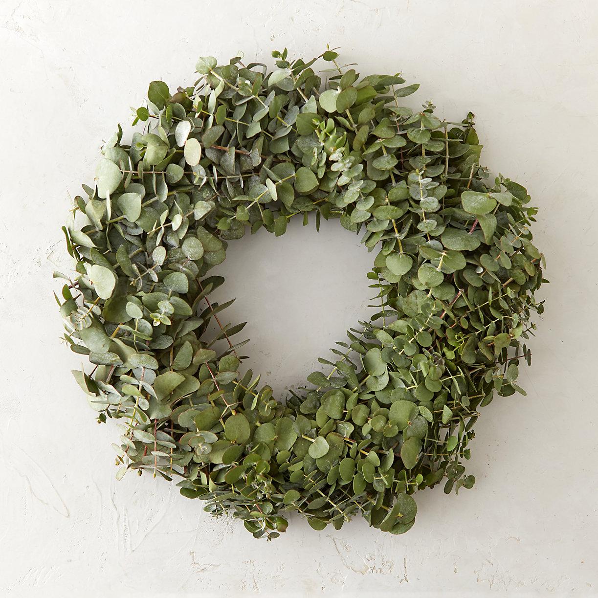 Fresh Eucalyptus Wreath In Holiday Wreaths At Terrain
