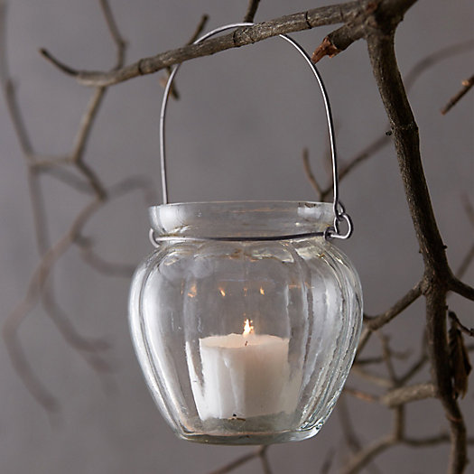 Hanging Votive Holder, Ridged