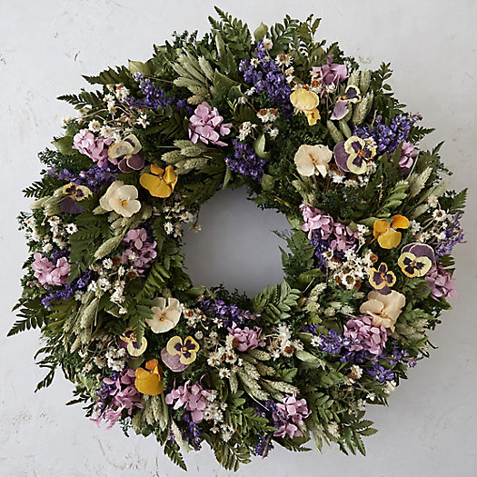 Scattered Pansies Wreath