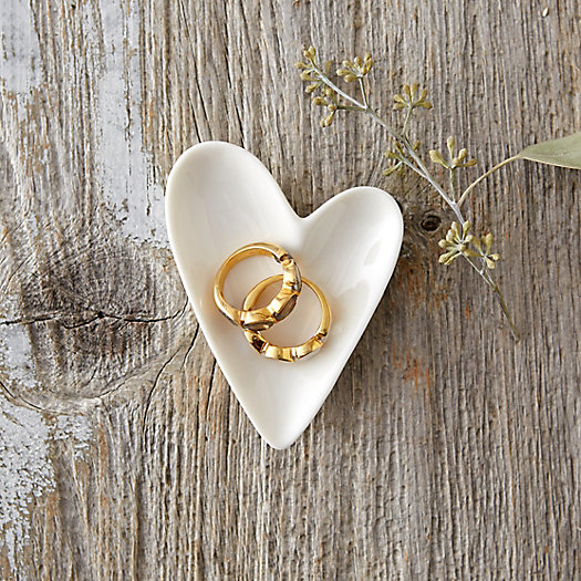 Ceramic Heart Trinket Dish
