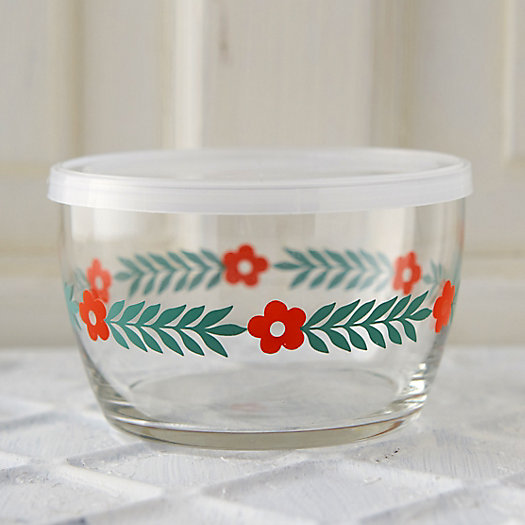 Daisy Glass Storage Bowl