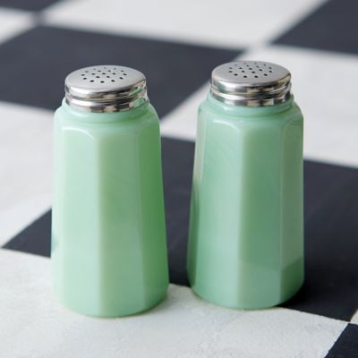 Jadeite Salt & Pepper Shakers