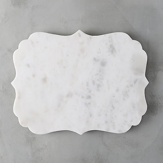 Scalloped Marble Serving Board