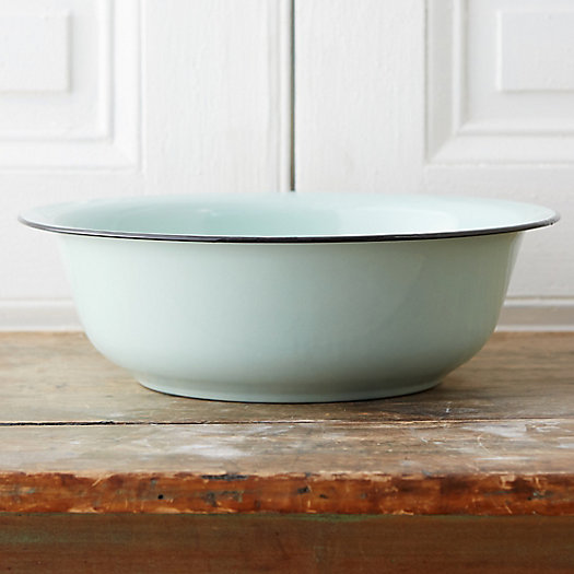 Mint Enamel Serving Bowl