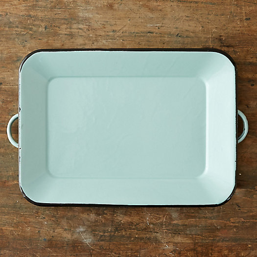 Mint Enamel Serving Tray