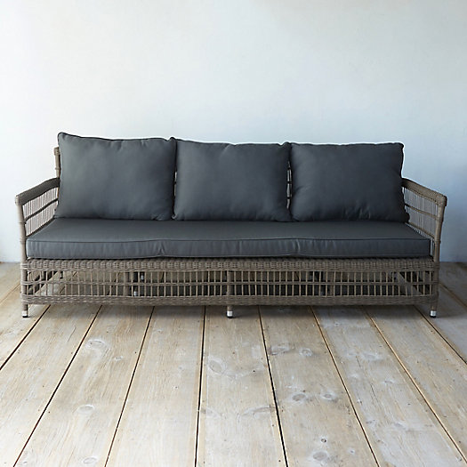 Trellis Weave All Weather Wicker Three Seat Sofa