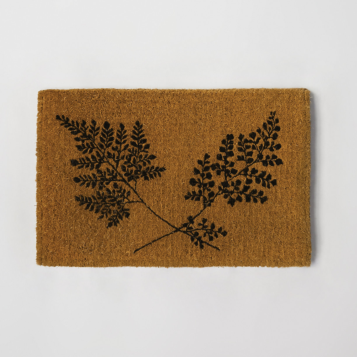product offer badge fern fronds doormat