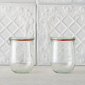 1L Weck Tulip Jar Set