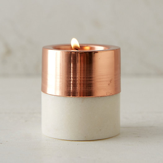 Copper & Marble Votive Holder