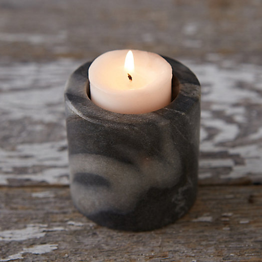 Smoky Marble Votive Holder