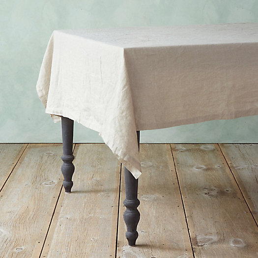 Well-Wrinkled Linen Finished Edge Tablecloth