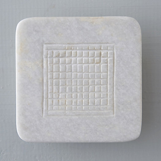 Etched Checkerboard Soap Tray