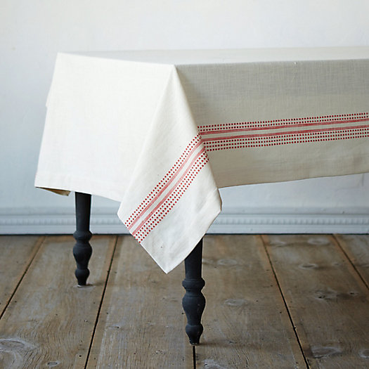 Dot & Dash Cotton Tablecloth