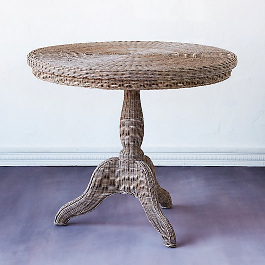 All Weather Wicker Round Bistro Table