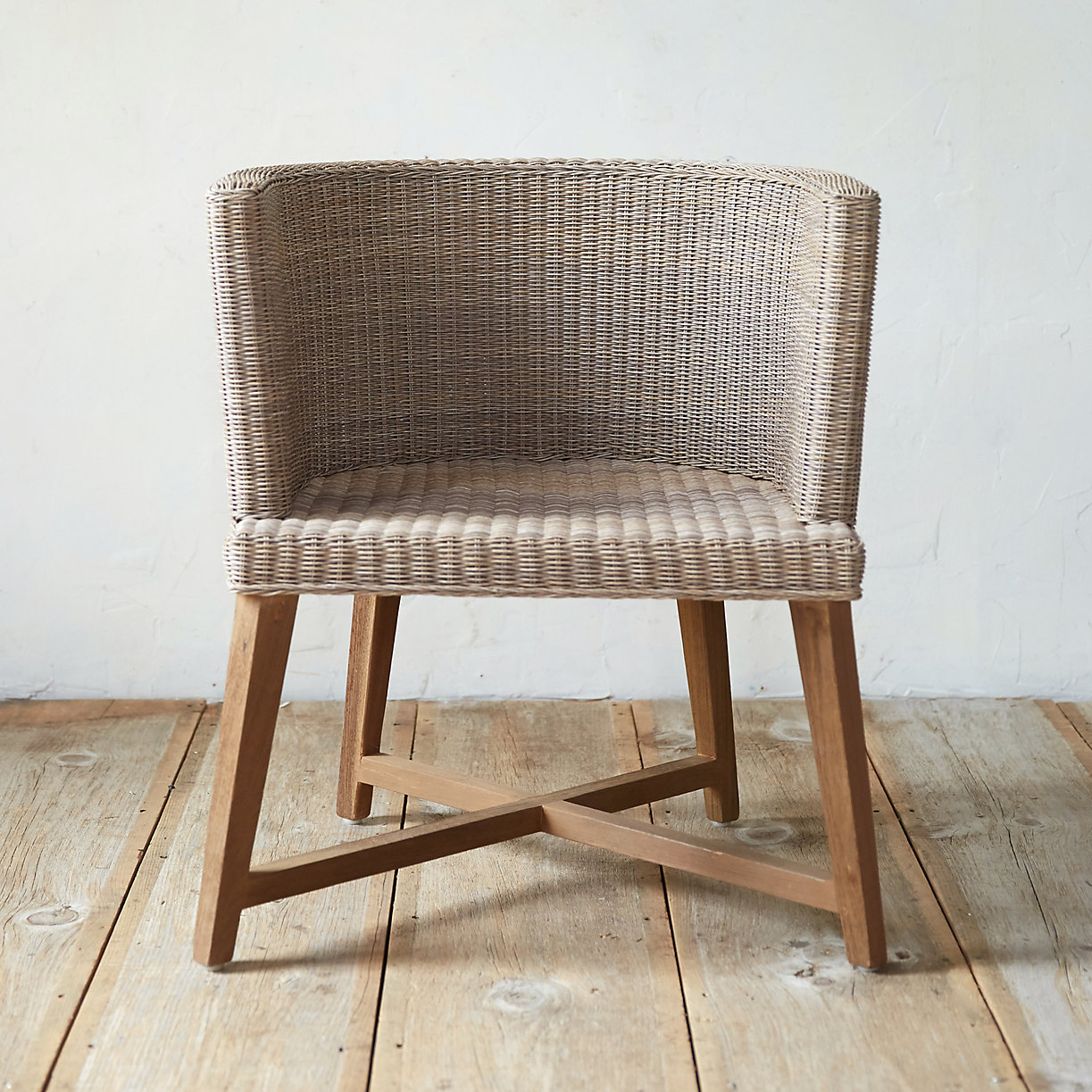 All weather wicker round dining chair terrain for All weather wicker furniture