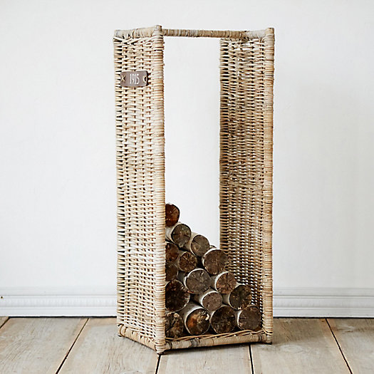 Tall Wicker Log Basket