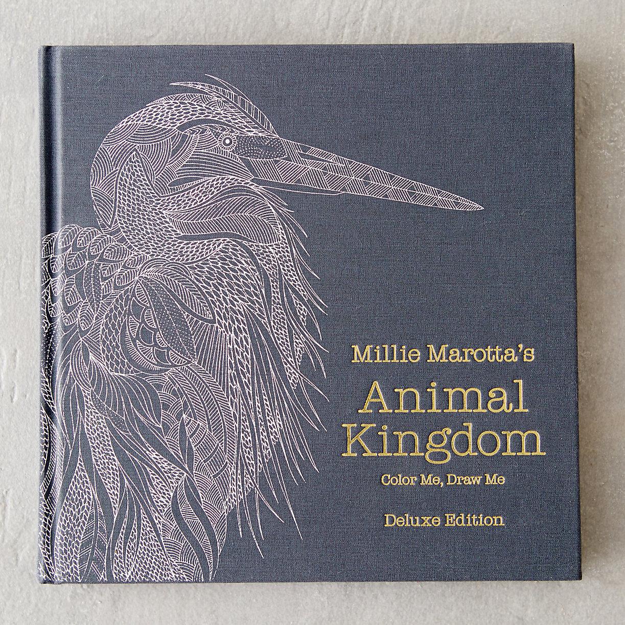 Animal Kingdom Deluxe Coloring Book