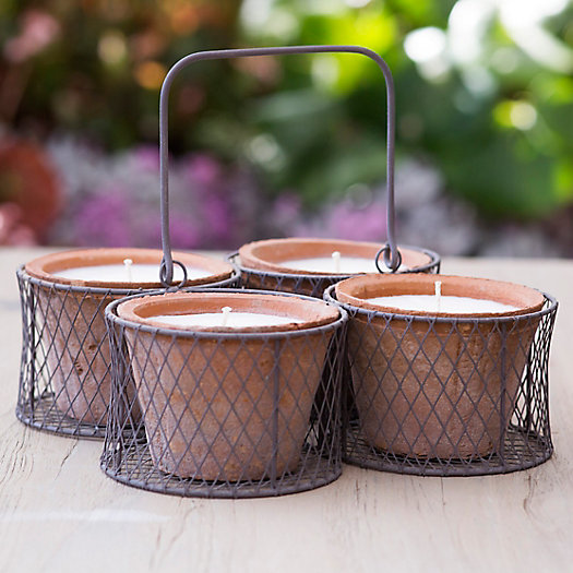Bamboo Citronella Candles, Set of 4