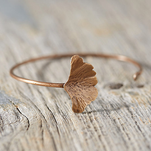 Bronze Gingko Cuff