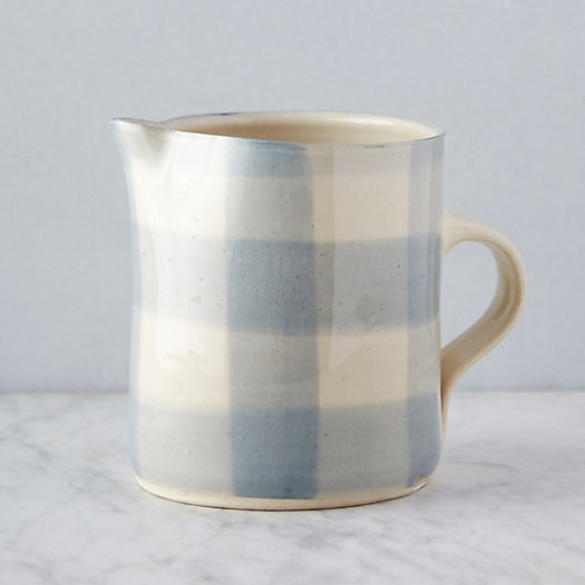 Gingham Porcelain Pitcher