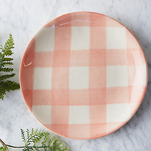 Gingham Porcelain Side Plate