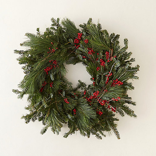 Fresh Winterberry & Pine Wreath