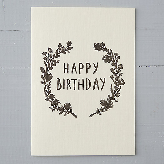 Birthday Laurels Card