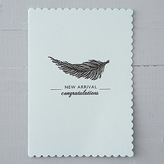 New Arrival Feather Card