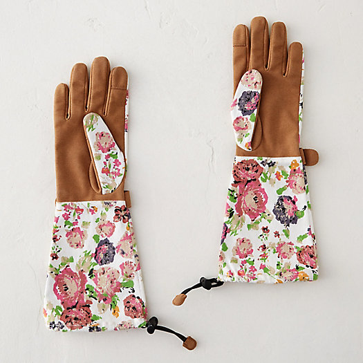 floral twill garden gloves loading zoom