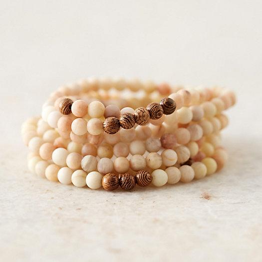 Beaded Stone Bracelets, Set of 7