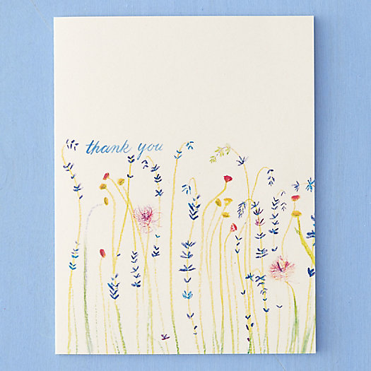 Wildflower Field Thank You Card