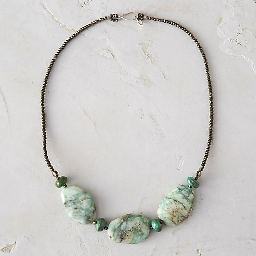 Chrysoprase Trio Necklace